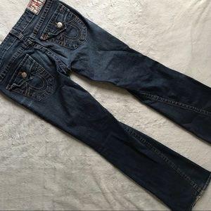 True Religion Classic Joey Twisted Seam Flare Jean